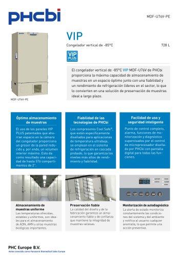 MDF-U76V-PE Congelador vertical de -85°C