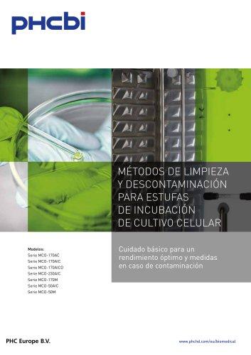 MÉTODOS DE LIMPIEZA Y DESCONTAMINACIÓN PARA ESTUFAS DE INCUBACIÓN DE CULTIVO CELULAR
