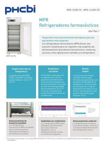 MPR Refrigeradores farmacéuticos