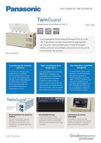 TwinGuard Congeladores horizontales de –86 °C
