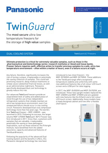 TwinGuard ULT Freezers Technical Bulletin - Dual Cooling System