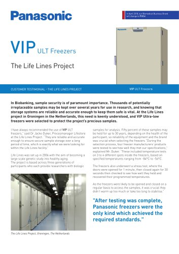 VIP ULT Freezers Customer Testimonial – The Life Lines Project, NL