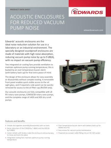 ACOUSTIC ENCLOSURES FOR REDUCED VACUUM PUMP NOISE
