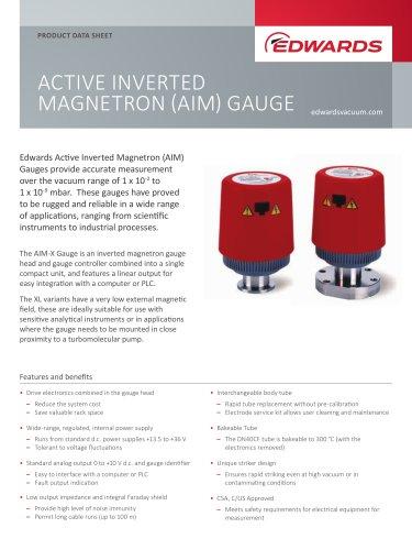 ACTIVE INVERTED MAGNETRON (AIM) GAUGE