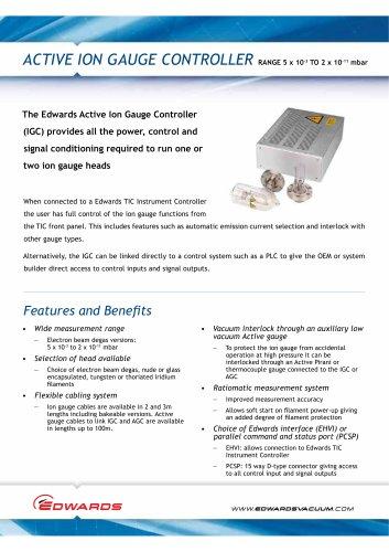 Active Ion Gauge Controller Datasheet