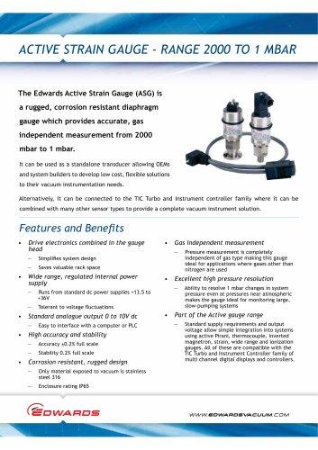 Active Strain Gauge Datasheet
