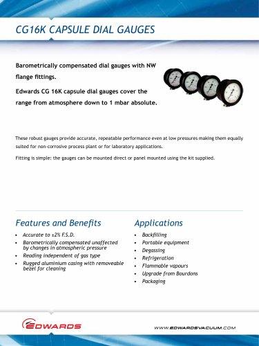 CG16K Capsule Dial Gauges
