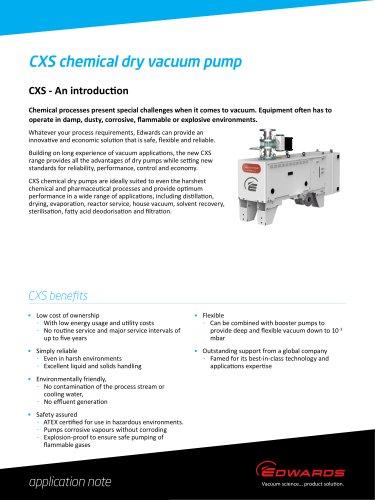 CXS chemical dry vacuum pump