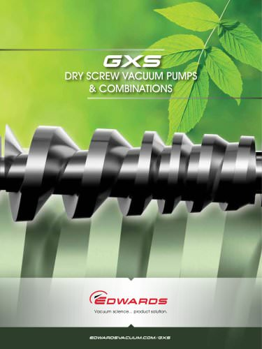 GXS Dry Screw Pumps & Combinations