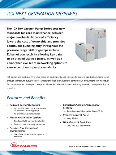 iGX Dry Pumps