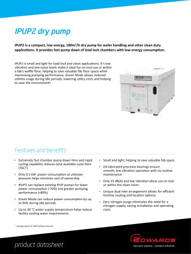 IPUP2 Dry Pump