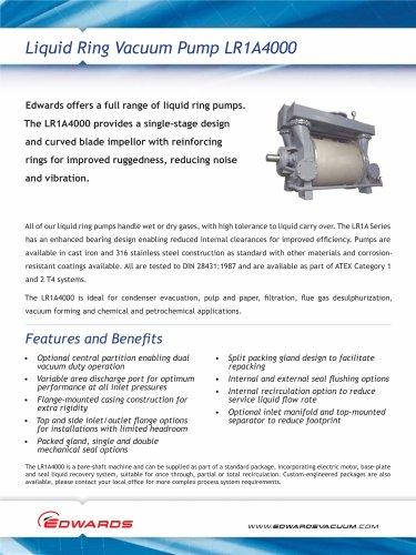 LR1A4000 Liquid Ring Pump datasheet
