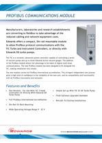 Profibus Communications Module Datasheet