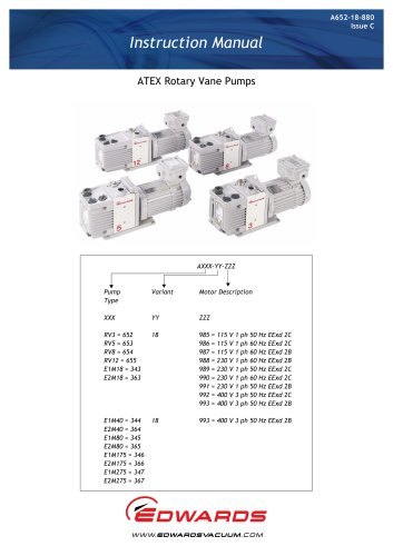 RV ATEX Rotary Vane Pumps