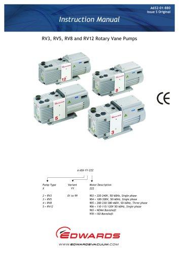 RV Rotary vane pump manual