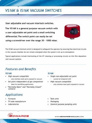 VS16K & IS16K Vacuum Switches