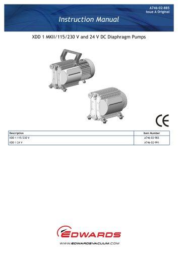 XDD 1 MKII/115/230 V and 24 V DC Diaphragm Pumps Instruction Manual
