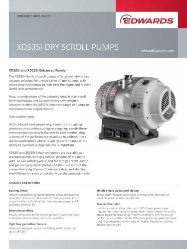 XDS35i DRY SCROLL PUMPS