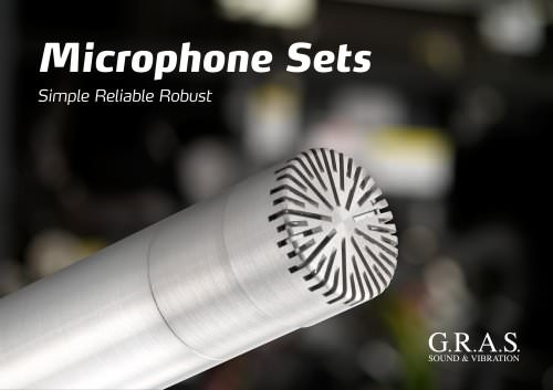 G.R.A.S. 46AE 1/2'' CCP Free-field Standard Microphone Set