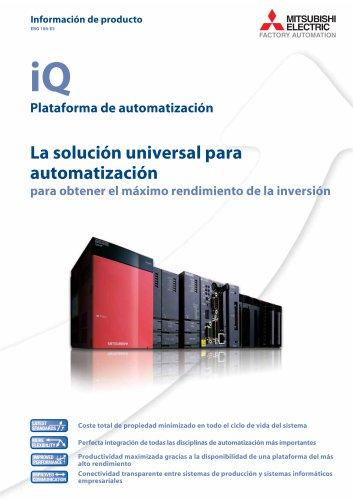 ¡Q Plataforma de automatización La solución universal para automatización para obtener el máximo rendimiento de la inversión