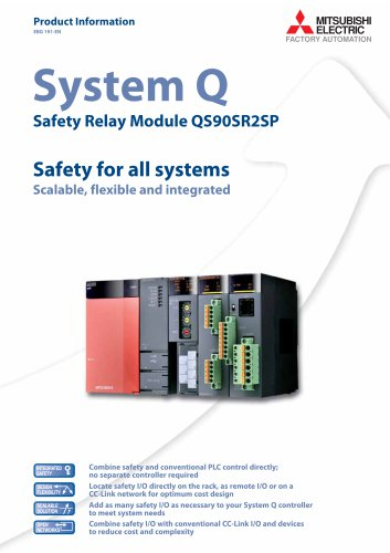 System Q Safety Relay Module QS90SR2SP Safety for all systems Scalable, flexible and integrated