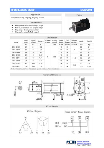 BRUSHLESS DC MOTOR D425(42MM)