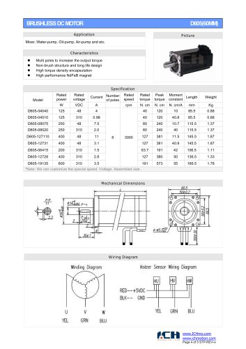 BRUSHLESS DC MOTOR D605(60MM)
