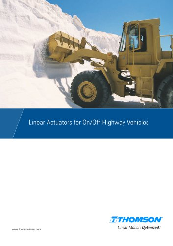 Linear Actuators for On/Off-Highway Vehicles