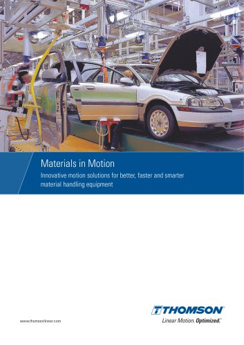 Motion solutions for material handling equipment