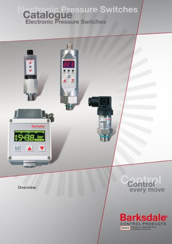 Electronic Transducers, Pressure Switches and Displays
