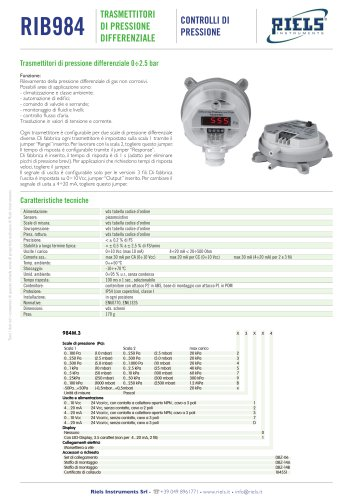 984 Differential pressure transmitters Riels