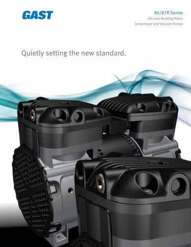 86/87R Series Oil-Less Rocking Piston Compressor and Vacuum Pumps