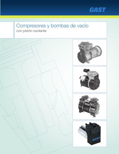 Compresores y bombas de vacío con piston oscilante
