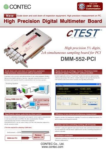 5½ digits, 2ch Digital Multimeter board for PCI