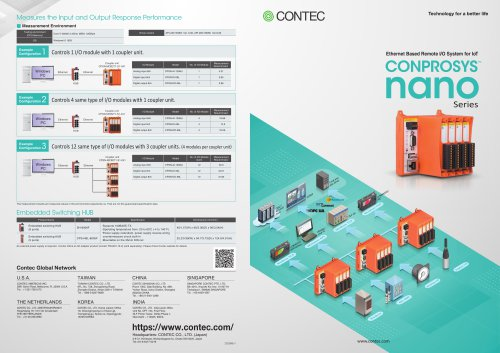 CONPROSYS nano series for Remote I/O and Logic Controller