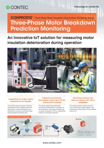 CONPROSYS Three-Phase Motor Insulation Deterioration Monitoring Module