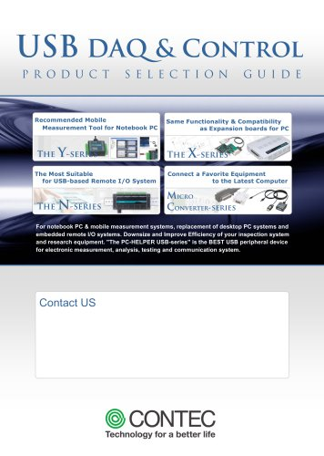 CONTEC USB DAQ and Control Products Selection Guide