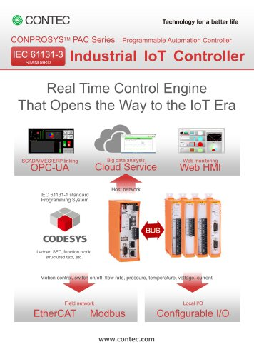 "M2M/IoT Solutions ""CONPROSYS PAC series"""
