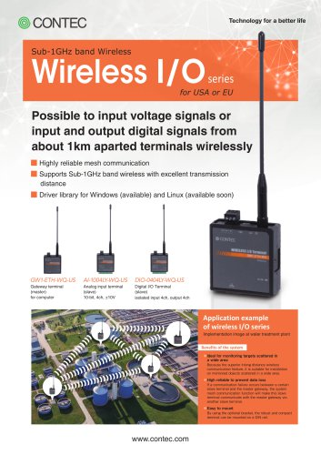 Sub-1GHz band Wireless I/O series