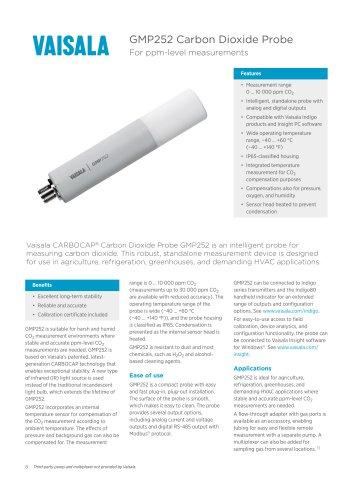 GMP252 Carbon Dioxide Probe