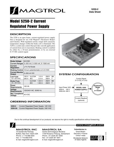 5250-Current-Regulated Power Supply (open frame)