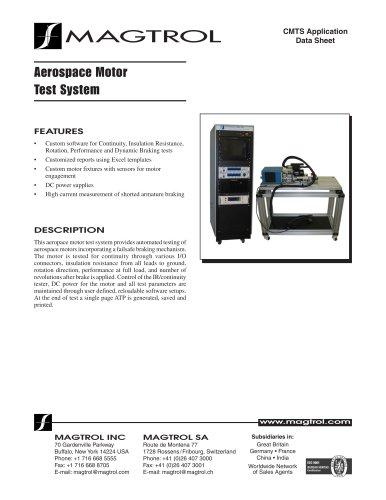Aerospace Motor Test System