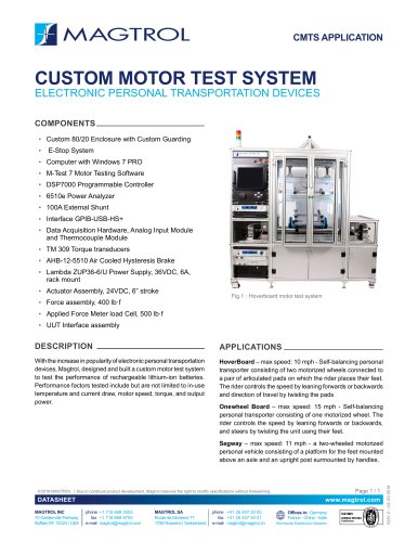 Custom motor test system