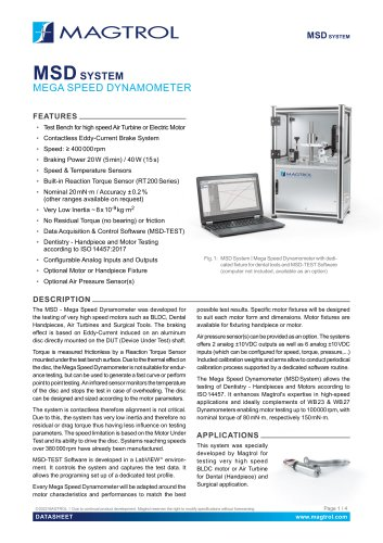 MSD | Mega Speed Dynamometer