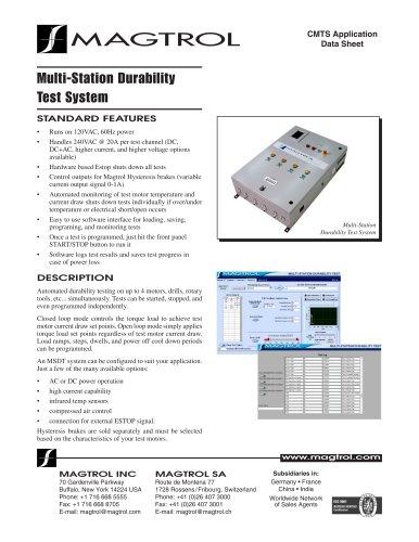 Multi-Station Durability Test System