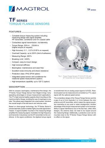 TF Series | Torque Flange Sensors