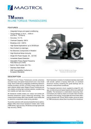 TM Series | In-Line Torque Transducer