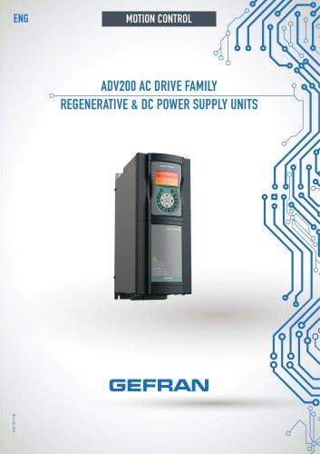 ADV200 AC DRIVE FAMILY REGENERATIVE & DC POWER SUPPLY UNITS