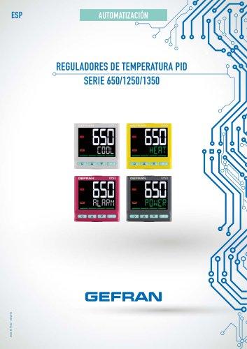 REGULADORES DE TEMPERATURA PID - SERIE 650/1250/1350