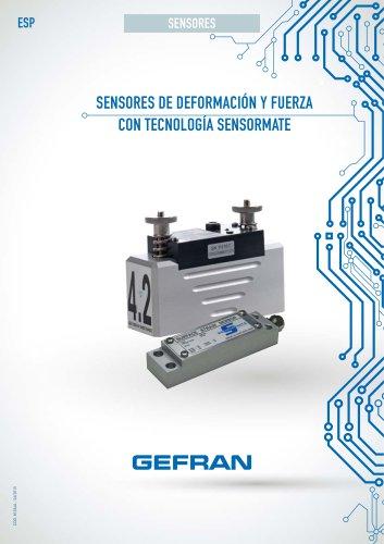 SENSORES DE DEFORMACIÓN Y FUERZA CON TECNOLOGÍA SENSORMATE